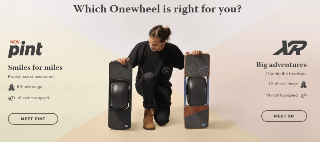 Onewheel PINT and XR